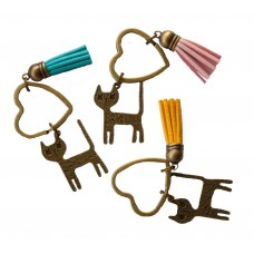 Cat Heart & Tassel Key Ring - OUT OF STOCK