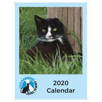 SALE: REDUCED TO £2.50 - Celia Hammond 2020 Cat Calendar