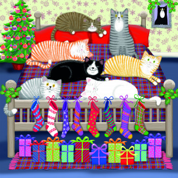 Purfect Christmas Greeting Cards (Pack of 10)