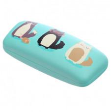 NEW: Sunglasses Case - Feline Fine Cat Design - Blue Cat & Mouse