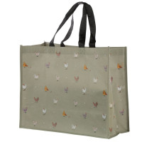 NEW: Chickens Willow Farm Recycled Plastic Reusable Shopping Bag