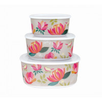 NEW: Sara Miller London Peony Melamine Storage Containers (Set of 3)
