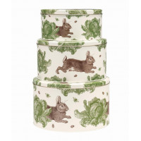 NEW: Thornback & Peel - Rabbit and Cabbage Cake Storage Tins (Set of 3)