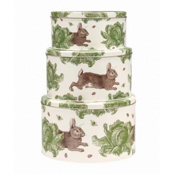 NEW: Thornback & Peel - Rabbit and Cabbage Cake Storage Tins (Set of 3)