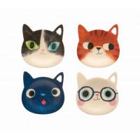 NEW: Planet Cat Tea Bag Holders (Set of 4)