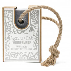 SALE: REDUCED TO £4.99 Agnes + Cat Soap On A Rope - Windermere - FABULOUSLY SCENTED!