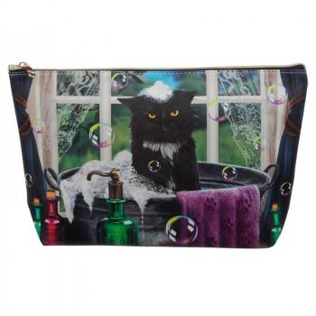 NEW: Lisa Parker Large Cat PVC Wash Bag