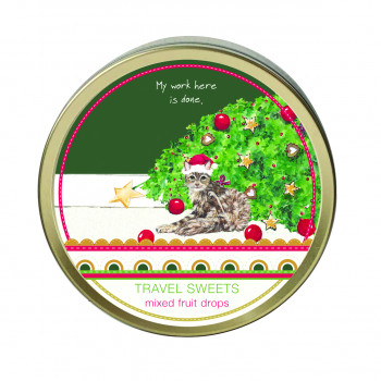 SPECIAL OFFER: REDUCED TO £2.50 Fallen Christmas Tree Cat Travel Sweets