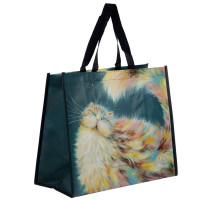 NEW: Kim Haskins Rainbow Cat Shopping Bag