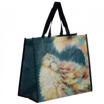 NEW: Kim Haskins Rainbow Cat Shopping Bag
