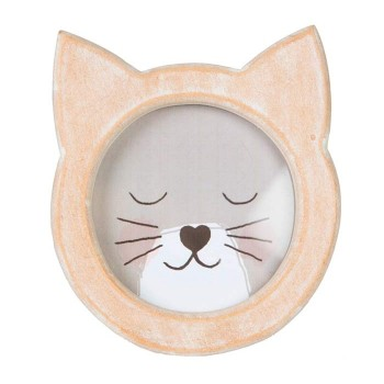 Wooden Cat Photo Frame