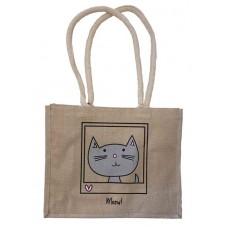 CHAT 'Meow!' Jute Shopper Bag