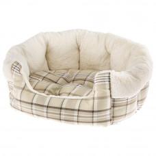 NEW Medium Super Snug and Stylish Ferplast Etoile Padded Bed - Cream