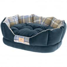NEW Medium Super Snug and Stylish Ferplast Charles Sofa-Style Bed - Blue
