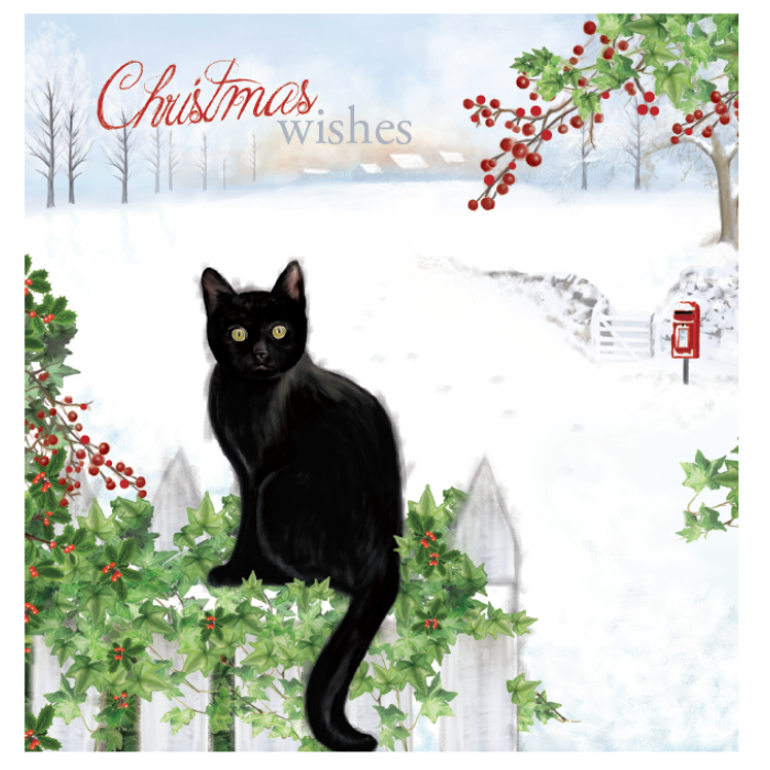 Cat Theme Christmas Cards